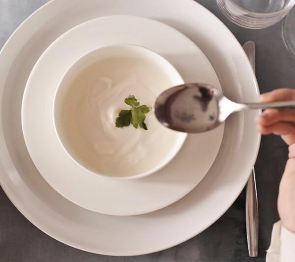 Championsuppe mit Milch verfeinert für die schlanke Linie